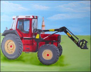 "Acryl ""Opas Traktor"" Auftrag"